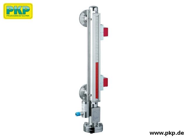 FB06 Bypass-Füllstandsanzeiger, 2 Kontakte, Reedkette, Rohrkappe oben