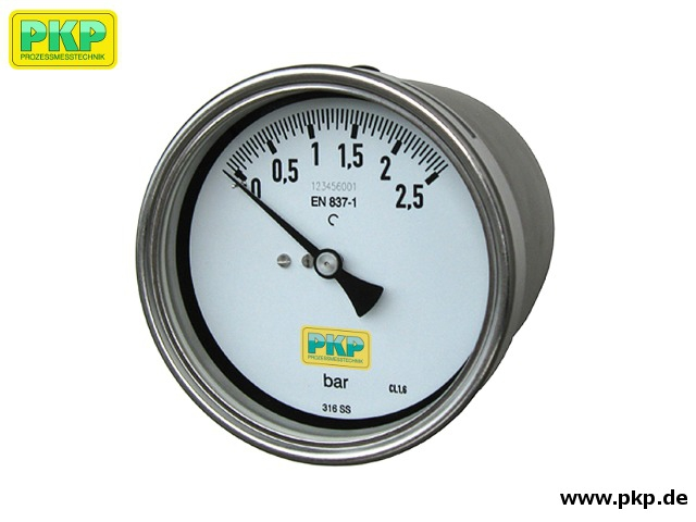 PDR04 Differential pressure gauge with two coupled Bourdon tube measuring systems