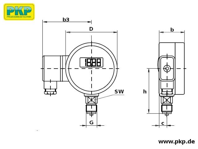 PMD02 Maßzeichnung Bauform A