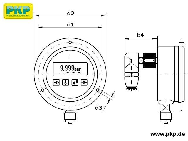 PMD02 Maßzeichnung Bauform B