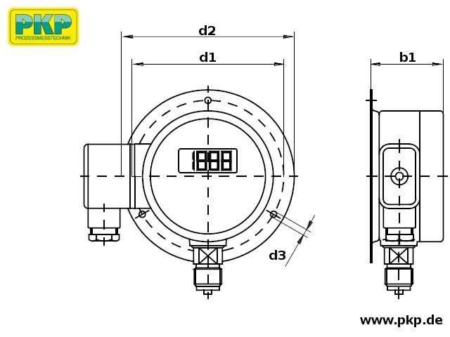 PMD02 Maßzeichnung Bauform C