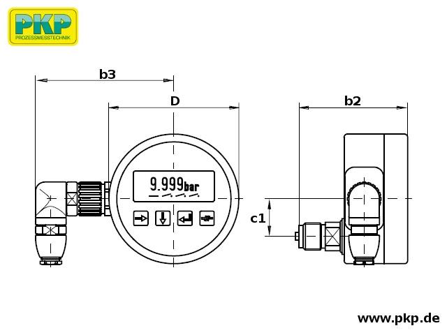 PMD02 Maßzeichnung Bauform D