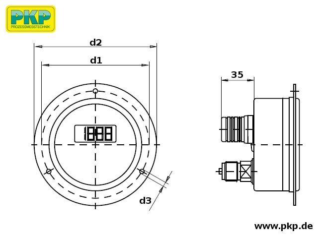 PMD02 Maßzeichnung Bauform E