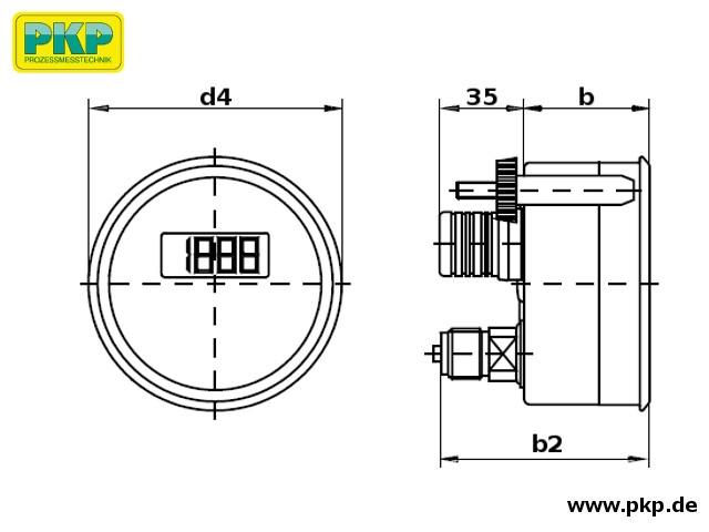 PMD02 Maßzeichnung Bauform F