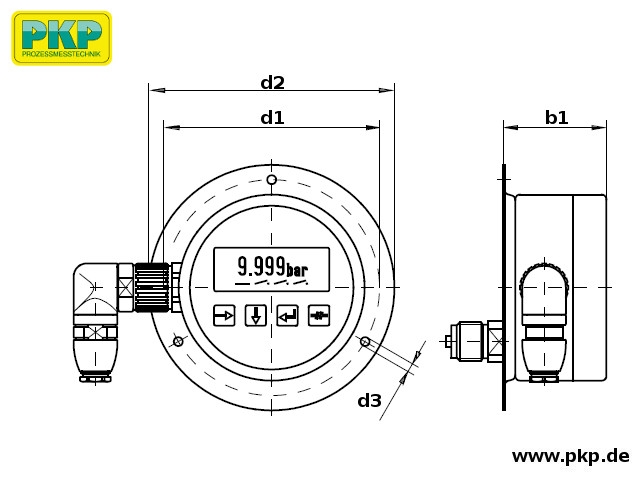 PMD02 Maßzeichnung Bauform G