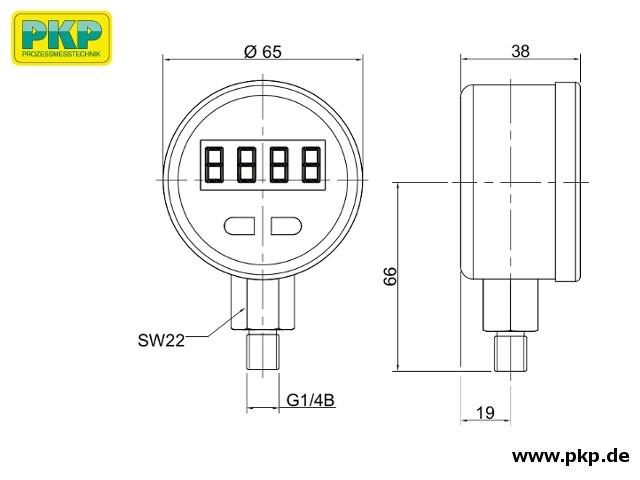 PMD01.S, Standard-Version, Maßzeichnung