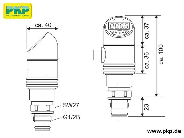 PSA21 Elektronischer Drucksensor, Abmessungen
