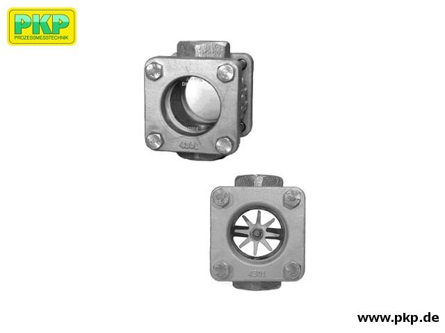 DG10 Durchfluss-Schauglas, Gewindeanschluss
