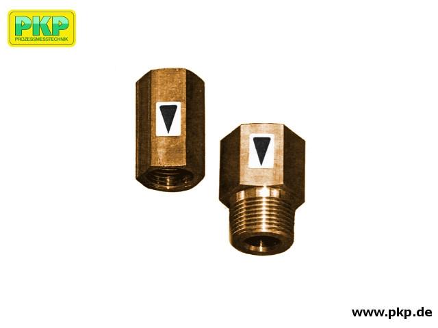 SB02 Durchflussbegrenzer ohne Hilfsenergie, Ganzmetall - Ausführung