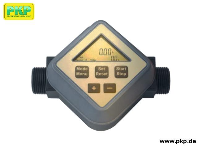 DR15 Flügelrad-Durchflussmesser, Batteriebetrieben