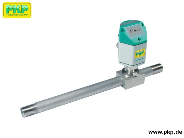 DB41 Thermal mass flowmeter and counter for gasses with integrated up- and downstream flow conditioners