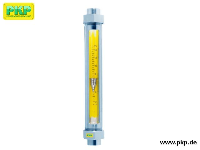 DS12 Schwebekörper Durchflussmesser mit Glasmesskonus und Gewindeanschluss