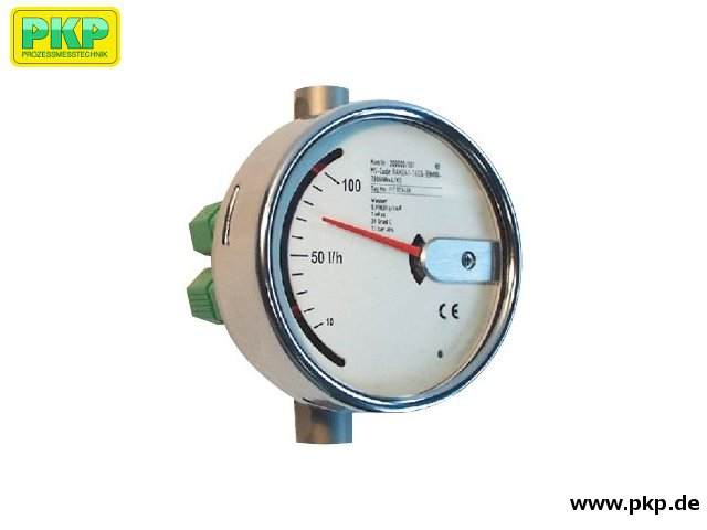 DS20 Variable area flowmeter for low flow volumes, compact construction