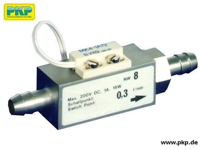 DS51 Kolben-Strömungswächter, Schlauchtülle beidseitig, Edelstahl