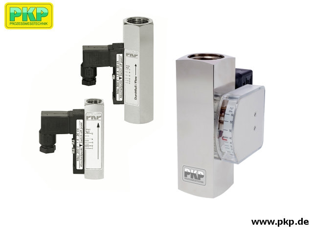DS02 Miniature variable area flow meter and switch - all metal