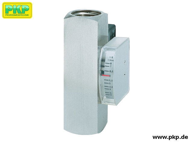 DS08 All metal viscosity compensated flowmeter and switch, high pressure version, mounting independent