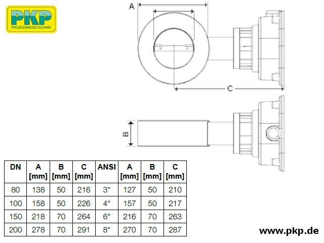 DK10 Maßzeichnung Messkammer L (Wafer)