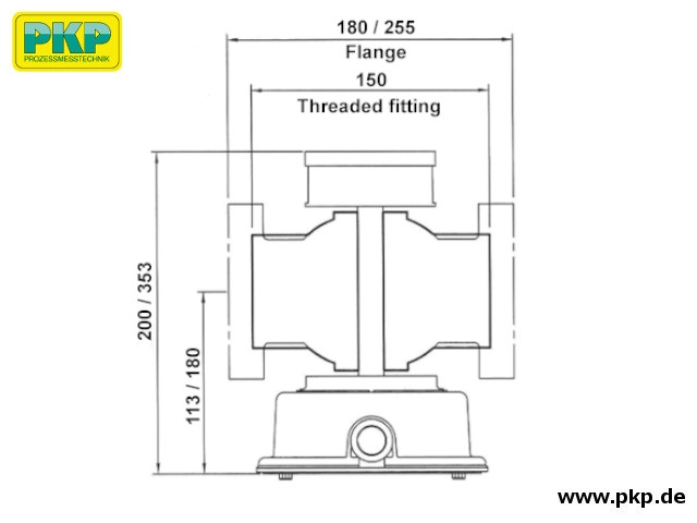 DK10 Maßzeichnung Messkammer M/L