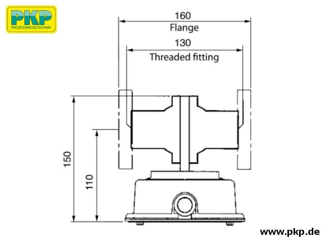 DK10 Maßzeichnung Messkammer S