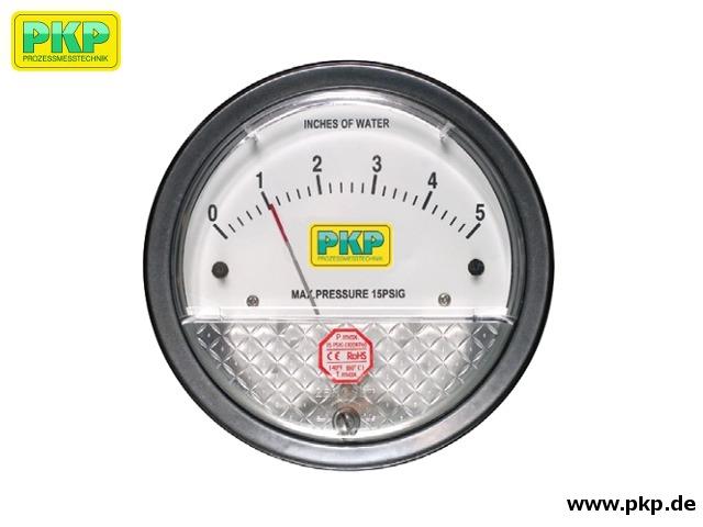 PDS02 Low-Cost Manometer mit Membran-Messsystem für Relativ- und Differenzdruck