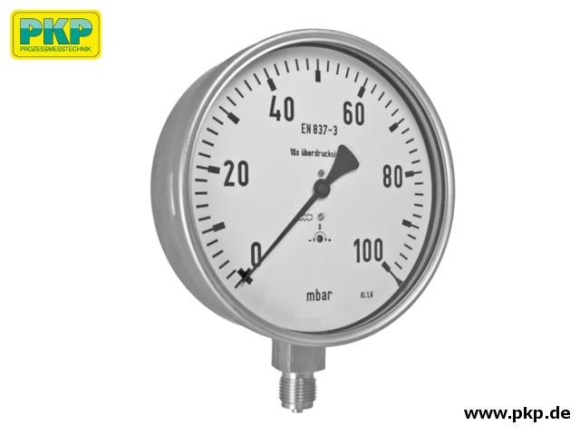 PMK04 Kapselfedermanometer, Anschluss aus Edelstahl