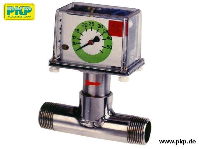 DP06 Prallscheiben- Durchflussmesser, T-Stück, Rohrgewindeanschluss, Edelstahl