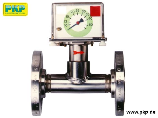 DP06 Prallscheiben- Durchflussmesser, T-Stück, DIN-Flansch, Edelstahl