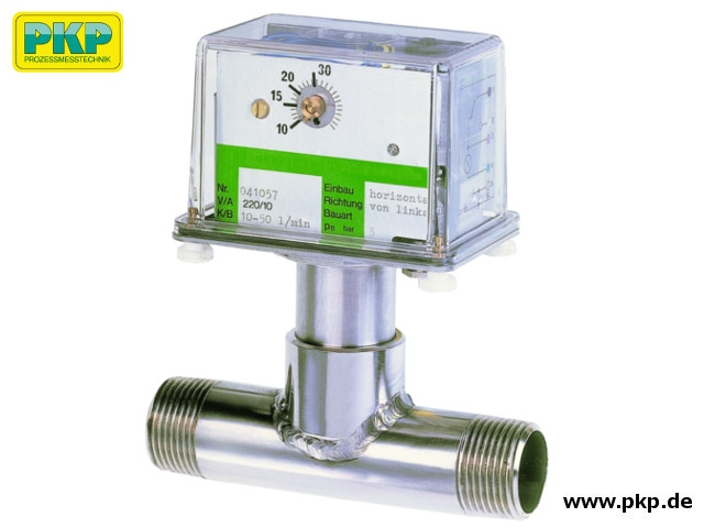 DP05 Prallscheiben-Durchflusswächter, Außengewinde, Edelstahl