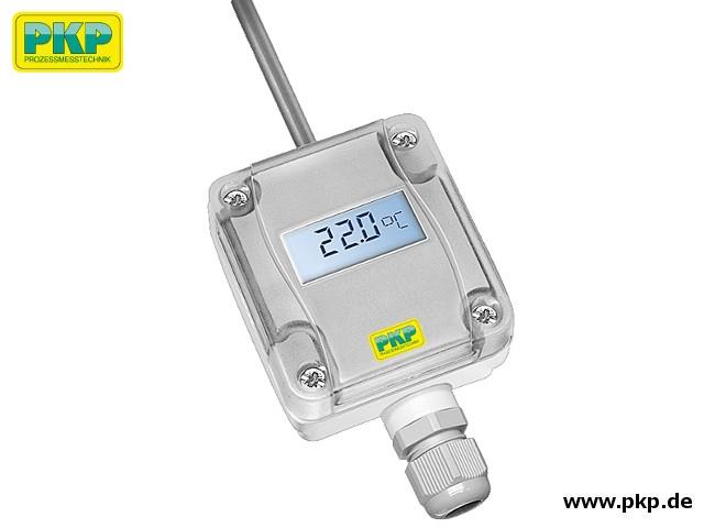 TR02 Temperaturtransmitter für Innen-/Außenbereich, Analogausgang und Anzeige